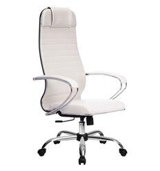 Кресло Метта Комплект 6 белый для руководителя, NewLeather