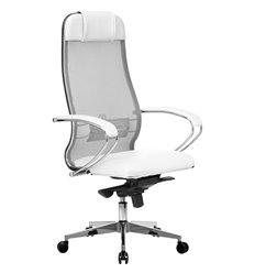 Кресло Samurai Comfort-1.01 белый лебедь для руководителя, сетчатая спинка