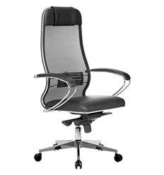 Кресло Samurai Comfort-1.01 черный для руководителя, сетчатая спинка