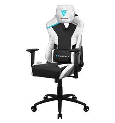 Кресло ThunderX3 TC3 Arctic White для геймеров, экокожа, цвет белый/черный