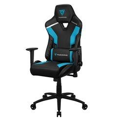 Кресло ThunderX3 TC3 Azure Blue для геймеров, экокожа, цвет черный/голубой