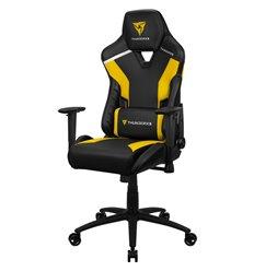 Кресло ThunderX3 TC3 Bumblebee Yellow для геймеров, экокожа, цвет черный/желтый