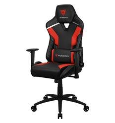 Кресло ThunderX3 TC3 Ember Red для геймеров, экокожа, цвет черный/красный