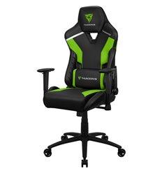 Кресло ThunderX3 TC3 Neon Green для геймеров, экокожа, цвет черный/зеленый