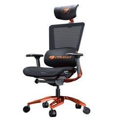 Кресло COUGAR Argo Black-Orange компьютерное игровое, сетка/экокожа, цвет черный/оранжевый