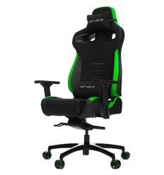 Кресло Vertagear P-Line PL4500 Black/Green компьютерное игровое, ткань/экокожа, цвет черный/зеленый