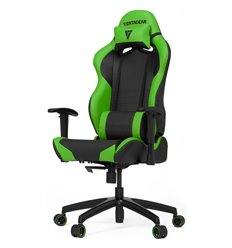 Кресло Vertagear S-Line SL2000 Black/Green компьютерное игровое, экокожа, цвет черный/зеленый