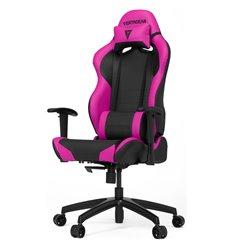 Кресло Vertagear S-Line SL2000 Black/Pink компьютерное игровое, экокожа, цвет черный/розовый