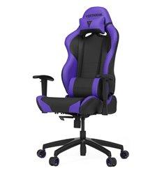 Кресло Vertagear S-Line SL2000 Black/Purple компьютерное игровое, экокожа, цвет черный/фиолетовый