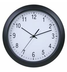 Часы Бюрократ WALLC-R02Р/BLACK  настенные аналоговые, цвет черный