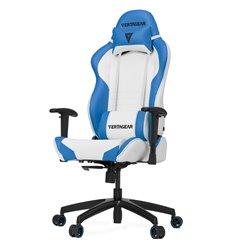 Кресло Vertagear S-Line SL2000 White/Blue компьютерное игровое, экокожа, цвет белый/синий