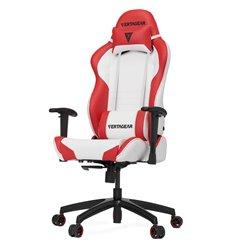 Кресло Vertagear S-Line SL2000 White/Red компьютерное игровое, экокожа, цвет белый/красный