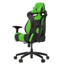 Кресло Vertagear S-Line SL4000 Black/Green компьютерное игровое, экокожа, цвет черный/зеленый