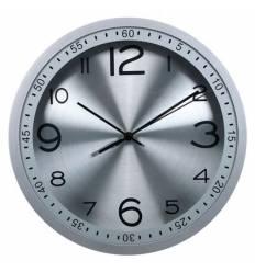 Часы Бюрократ WALLC-R05P/SILVER настенные  аналоговые, цвет серый