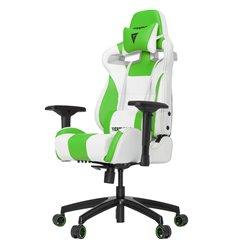 Кресло Vertagear S-Line SL4000 White/Green компьютерное игровое, экокожа, цвет белый/зеленый