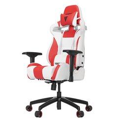 Кресло Vertagear S-Line SL4000 White/Red компьютерное игровое, экокожа, цвет белый/красный