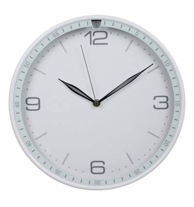 Часы Бюрократ WALLC-R06P/WHITE настенные  аналоговые, цвет серый