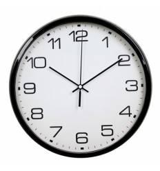 Часы Бюрократ WALLC-R07P/BLACK настенные  аналоговые, цвет черный