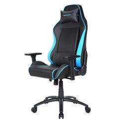 Кресло TESORO Alphaeon S1 TS-F715 Black/Blue компьютерное игровое, экокожа, цвет черный/синий