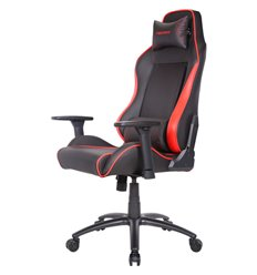 Кресло TESORO Alphaeon S1 TS-F715 Black/Red компьютерное игровое, экокожа, цвет черный/красный