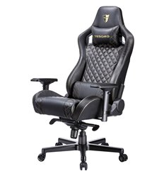 Кресло TESORO Zone X F750 Black компьютерное игровое, экокожа, цвет черный