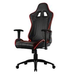 Кресло AeroCool AC120 AIR RGB-B, геймерское, с RGB подсветкой, экокожа, цвет черный