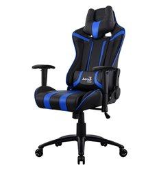 Кресло AeroCool AC120C AIR-BB, геймерское, экокожа, цвет черный/синий