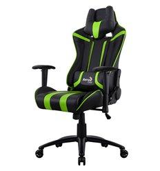 Кресло AeroCool AC120C AIR-BG, геймерское, экокожа, цвет черный/зеленый