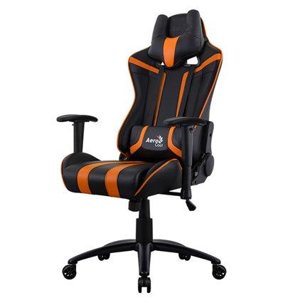 Кресло AeroCool AC120C AIR-BO, геймерское, экокожа, цвет черный/оранжевый