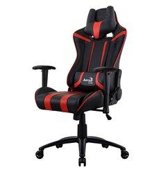 Кресло AeroCool AC120C AIR-BR, геймерское, экокожа, цвет черный/красный