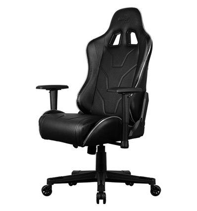 Кресло AeroCool AC220 AIR RGB-B, геймерское, с RGB подсветкой, экокожа, цвет черный