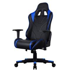 Кресло AeroCool AC220 AIR-BB, геймерское, экокожа, цвет черный/синий