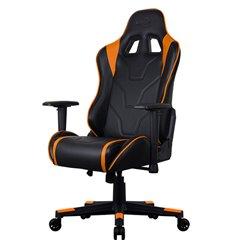Кресло AeroCool AC220 AIR-BO, геймерское, экокожа, цвет черный/оранжевый