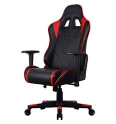 Кресло AeroCool AC220 AIR-BR, геймерское, экокожа, цвет черный/красный