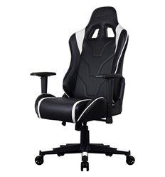 Кресло AeroCool AC220 AIR-BW, геймерское, экокожа, цвет черный/белый