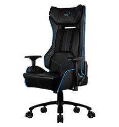 Кресло AeroCool P7-GC1 AIR RGB, геймерское, с RGB подсветкой, экокожа, цвет черный