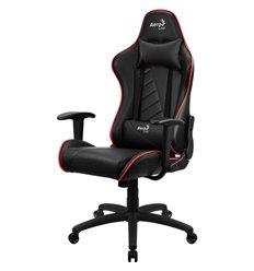 Кресло AeroCool AC110 AIR black/red, геймерское, экокожа, цвет черный/красный