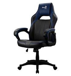 Кресло AeroCool AC40C AIR black/blue, геймерское, экокожа, цвет черный/синий