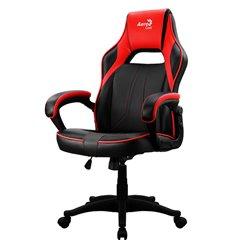 Кресло AeroCool AC40C AIR black/red, геймерское, экокожа, цвет черный/красный