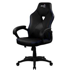 Кресло AeroCool AC50C AIR black/blue, геймерское, экокожа, цвет черный/синий
