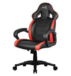 Кресло AeroCool AC60C AIR-BR, геймерское, экокожа, цвет черный/красный