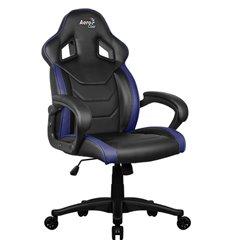 Кресло AeroCool AC60C AIR-BB, геймерское, экокожа, цвет черный/синий