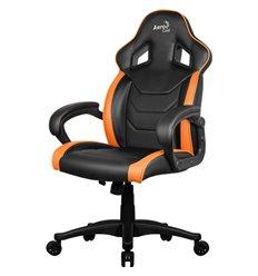 Кресло AeroCool AC60C AIR-BO, геймерское, экокожа, цвет черный/оранжевый