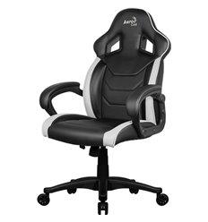 Кресло AeroCool AC60C AIR-BW, геймерское, экокожа, цвет черный/белый
