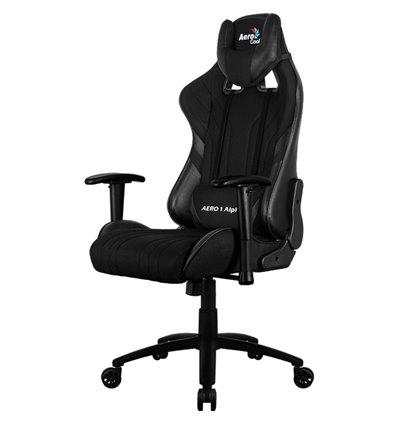 Кресло AeroCool AERO 1 Alpha All black, геймерское, ткань/экокожа, цвет черный