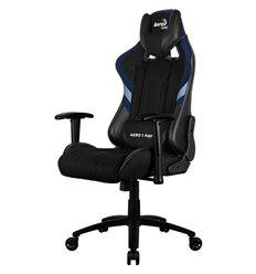 Кресло AeroCool AERO 1 Alpha black/blue, геймерское, ткань/экокожа, цвет черный/синий
