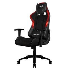 Кресло AeroCool AERO 1 Alpha black/red, геймерское, ткань/экокожа, цвет черный/красный