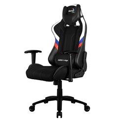 Кресло AeroCool AERO 1 Alpha RUS, геймерское, ткань/экокожа, цвет черный/триколор