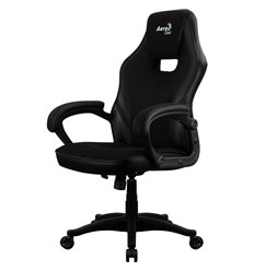 Кресло AeroCool AERO 2 Alpha All black, геймерское, ткань/экокожа, цвет черный