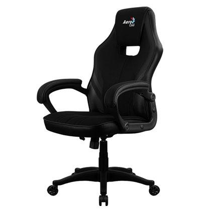 Кресло AeroCool AERO 2 Alpha All black, геймерское, ткань/экокожа, цвет черный